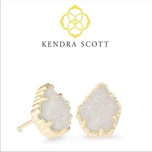 Kendra Scott Gold Tessa Iridescent Drusy Earrings